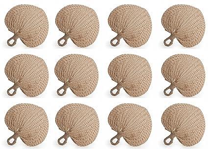amazon com koyal wholesale natural raffia hand fans 12 pack palm