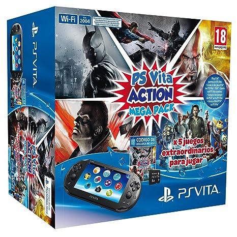 PlayStation Vita - Consola + Action Mega Pack + Tarjeta De ...