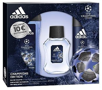 e2c810af876da5 adidas UEFA CL Champions Edition Eau de Toilette + Deodorant Body Spray +  Shower Gel +