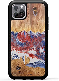 product image for Carved - Wood+Resin Case for iPhone 11 Pro 5.8 inch - One-of-A-Kind, Protective Traveler Bumper Cover (ID: 334482, Black & White)