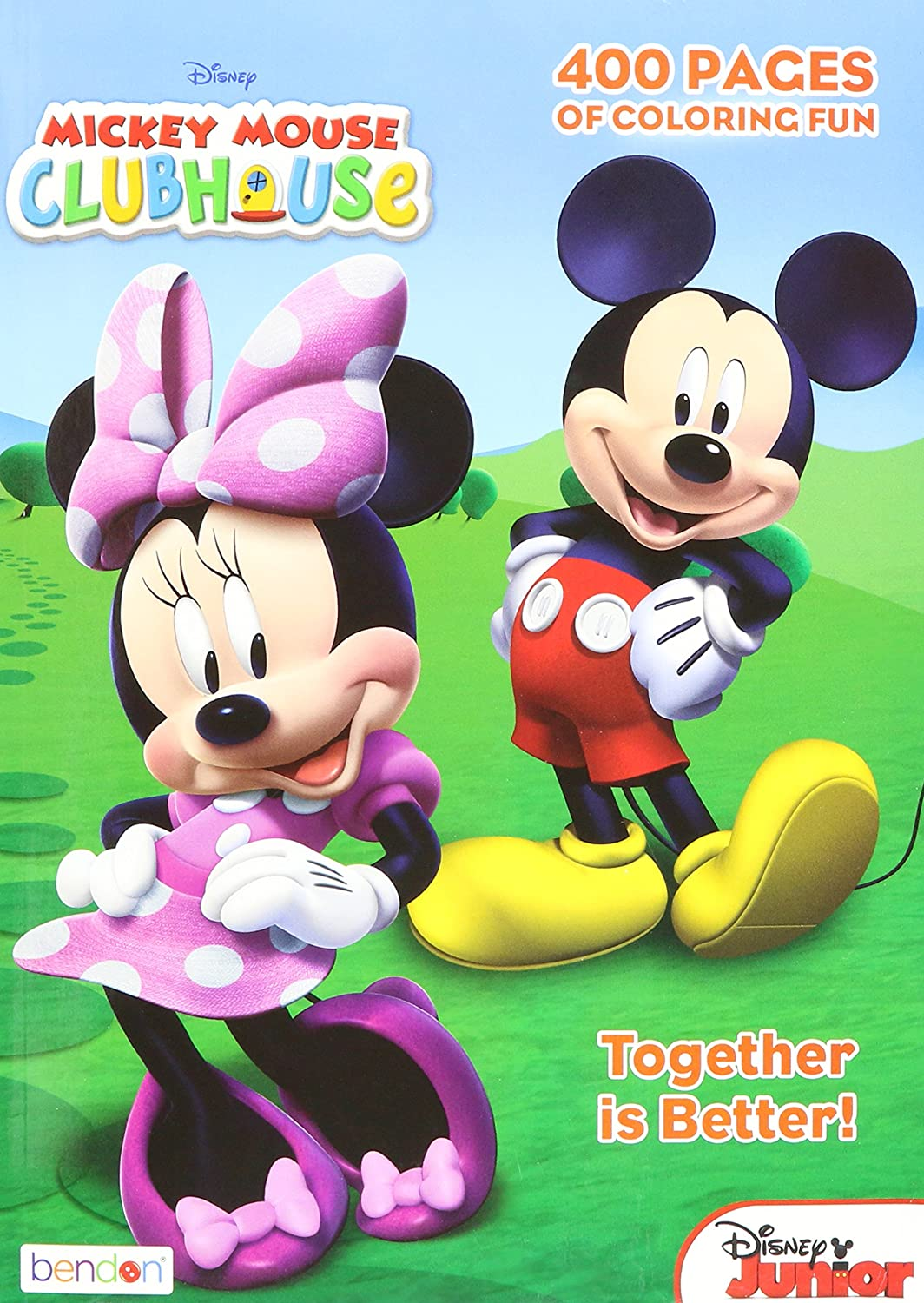 amazon com mickey mouse clubhouse gigantic coloring book 400