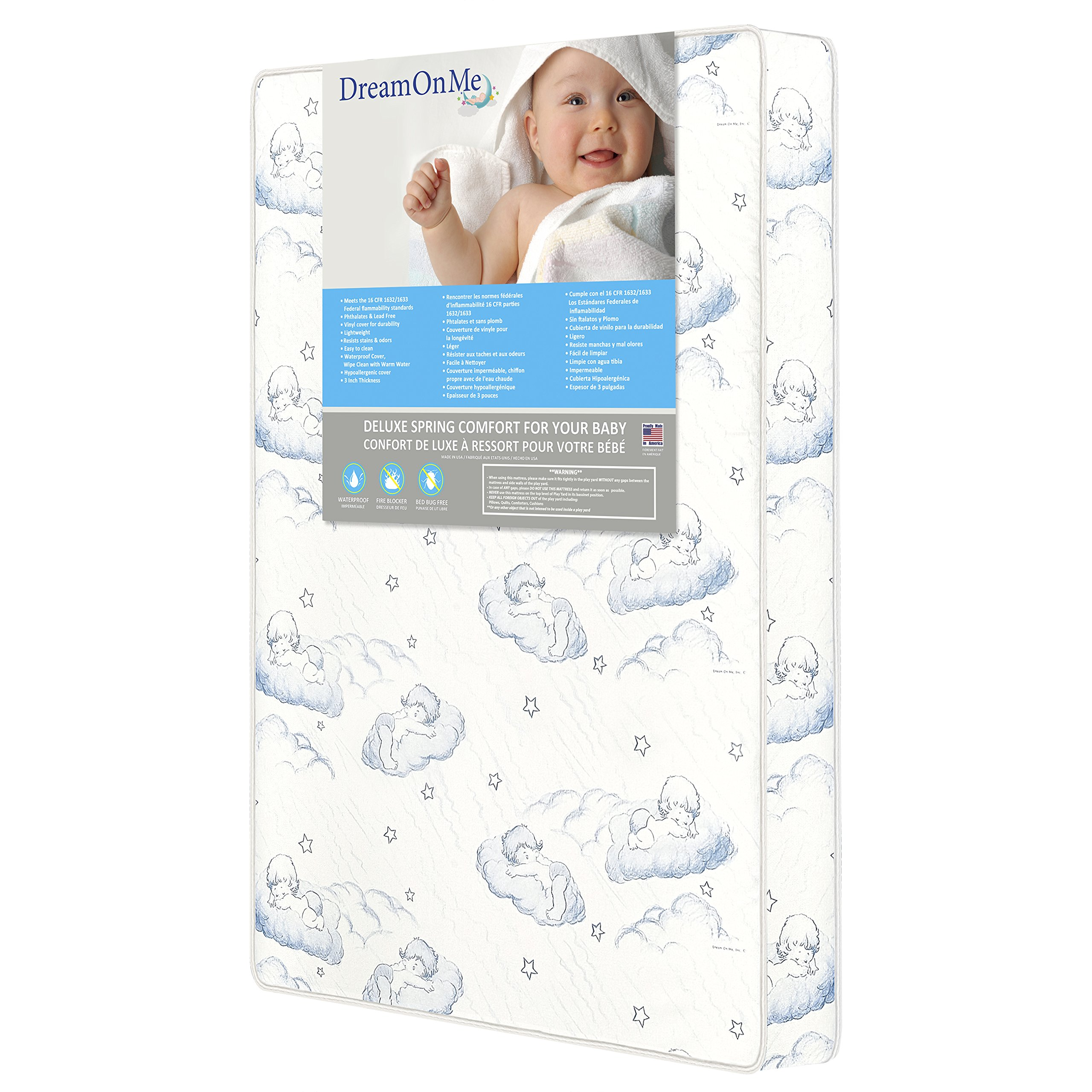 "Dream On Me, 3"" Inner Spring Play Yard Mattress product image"