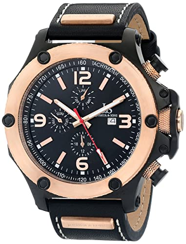 fa08482f5ea Image Unavailable. Image not available for. Color  Joshua   Sons Men s  JS75RG Rose Gold Multifunction Swiss ...