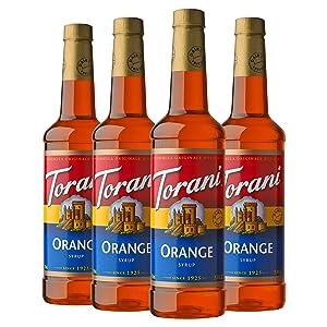 Torani Syrup, Orange, 25.4 Ounces (Pack of 4)