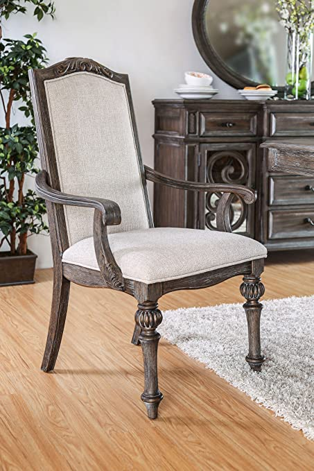 Amazon Com Furniture Of America Cm3150ac 2pk Arcadia Arm Chair