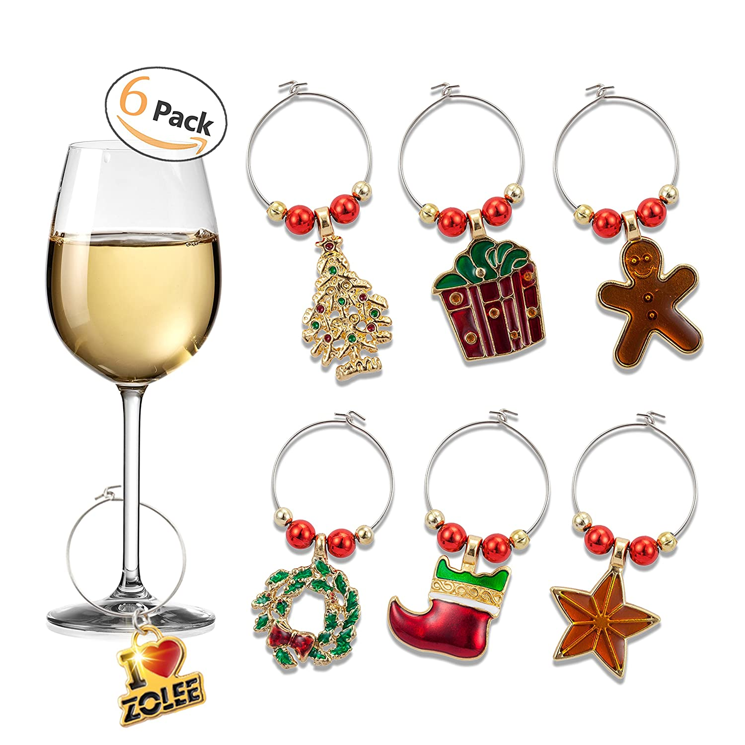 Zolee Wine Glass Charms, Set of 6
