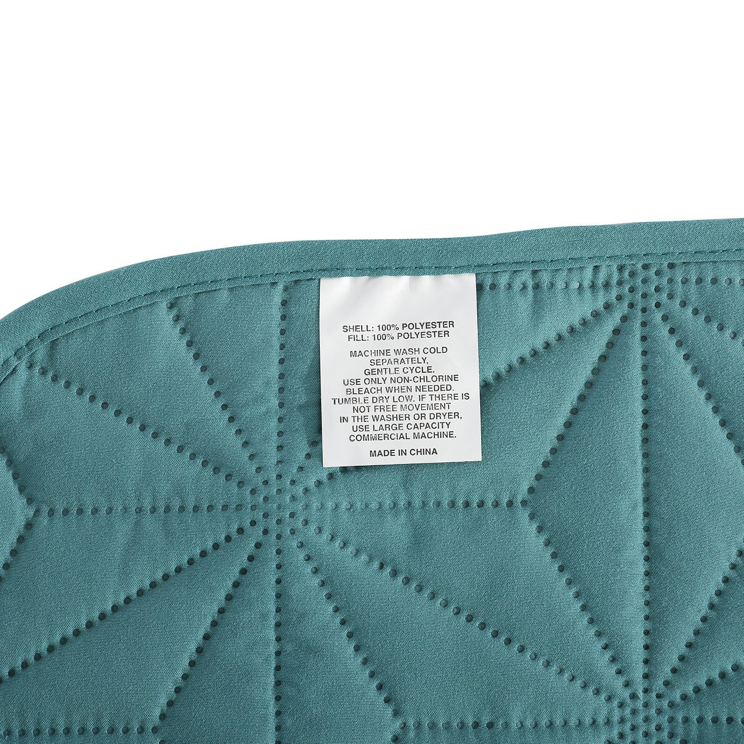 Turquoise HollyHOME Collection 3 Pieces Luxury Super Soft Solid Pattern Embossed Bedding Quilt Set with 2 Pillowcases King FBA/_HY-HH05-TUQ-K-S