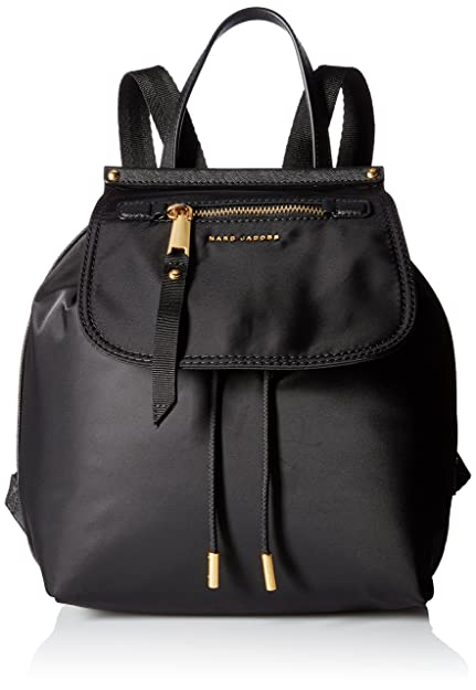 45eca35685 Marc Jacobs Women's Trooper Backpack, (Black), 14x30x25 cm (W x H x ...