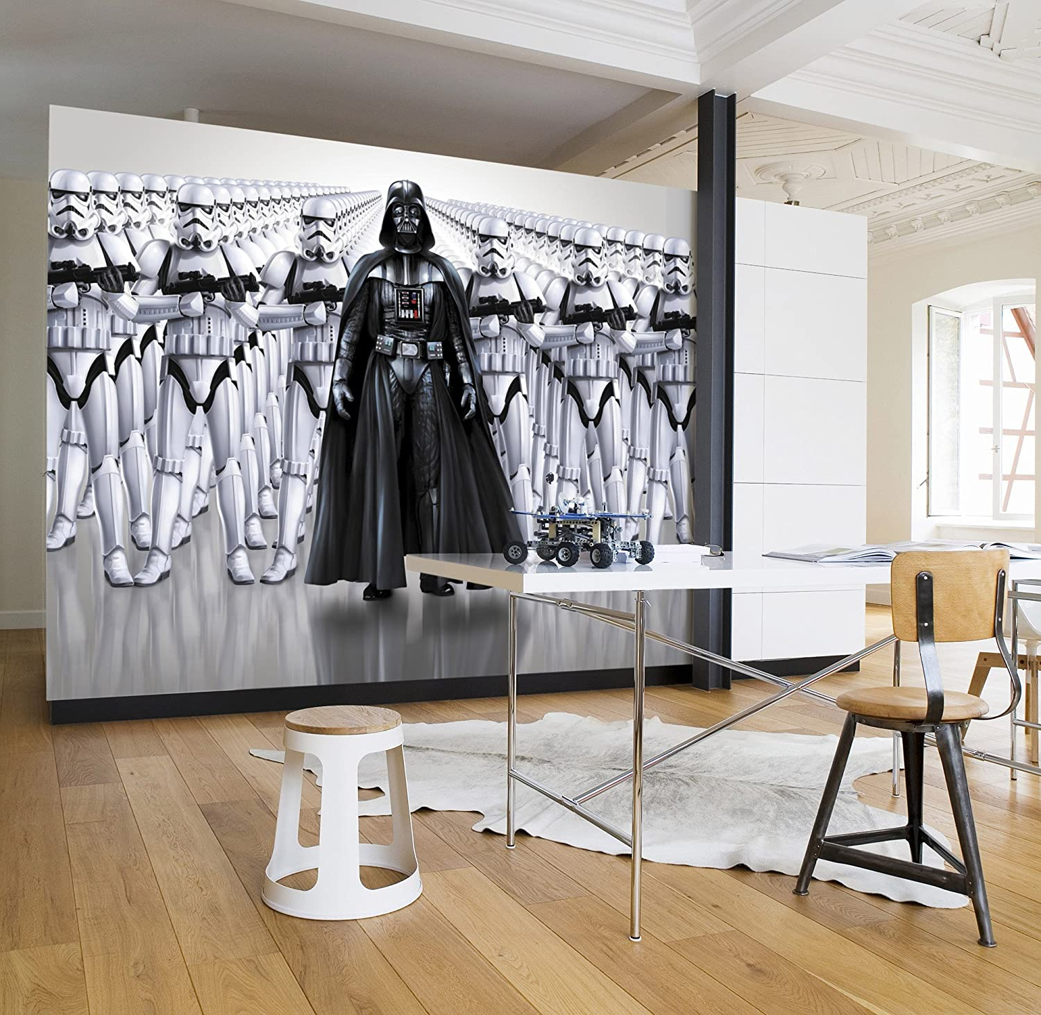 Komar Star Wars Imperial Force Darth Vader Stormtrooper Wallpaper Mural Vinyl Black White 368x0 2x254 Cm Amazon Co Uk Kitchen Home