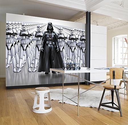 Komar Star Wars Imperial Force Darth Vader Stormtrooper Wallpaper Mural Vinyl Black White
