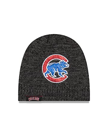 Amazon.com   Chicago Cubs Glitter Chic Women s Knit Hat   Sports ... 36a91741379