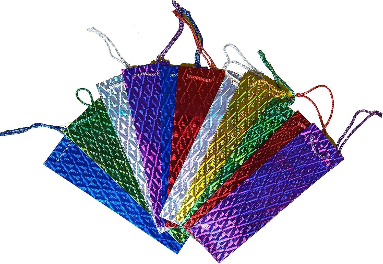 Medium Bag size 22.5 x 17.5 gusset 10 cm Pack of 12 Holographic Presentation Bags