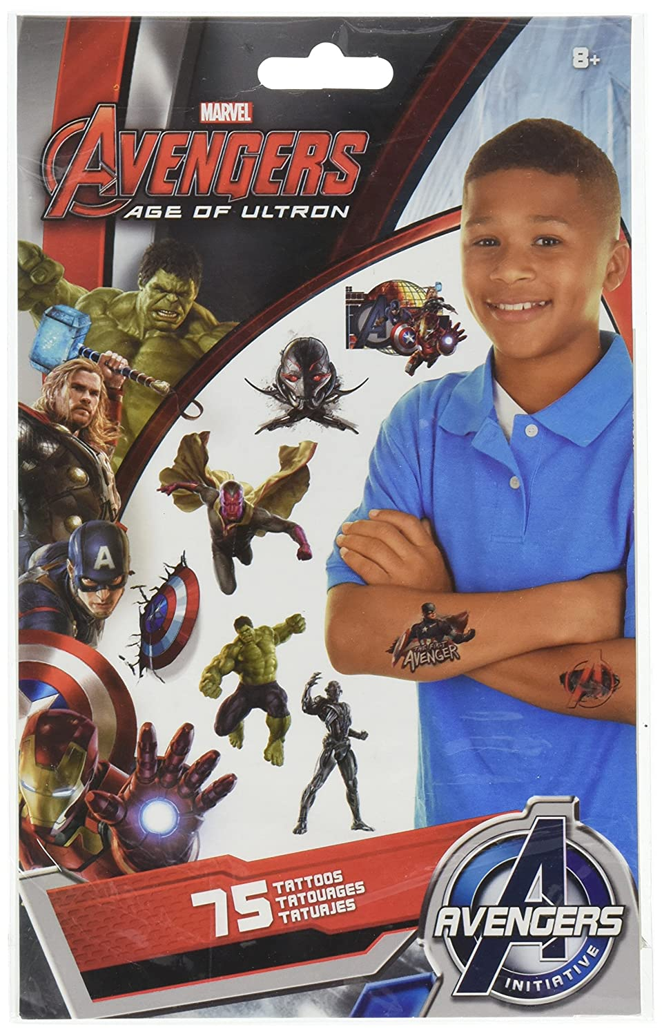 Avengers 2 - Age of Ultron Temporary Tattoos 75 ct: Amazon.es ...