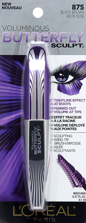 e6be79c5bc5 Amazon.com : L'Oréal Paris Voluminous Butterfly Sculpt Waterproof Mascara,  Black, 0.25 oz. : Beauty