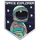 Astronaute Fer Sur/Coudre Patch sur déguisement Badge Spaceman Space Explorer la NASA