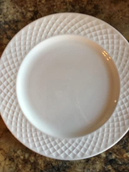 """5245e76fd5fb Image Unavailable. Image not available for. Color  MIKASA TRELLIS SALAD  PLATE 9"""" white ..."""