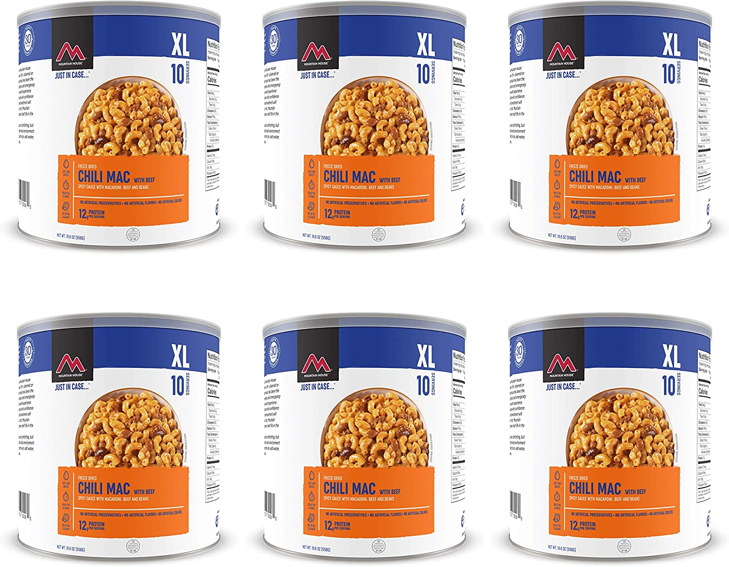 Mountain House Chili Mac w/ Beef #10 Can Freeze Dried Food - 6 Cans Per Case NEW!