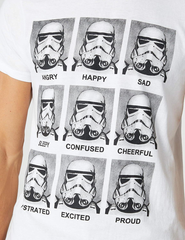 T-shirt Manches courtes Imprim/é Col rond Homme Star Wars Trooper Emotions