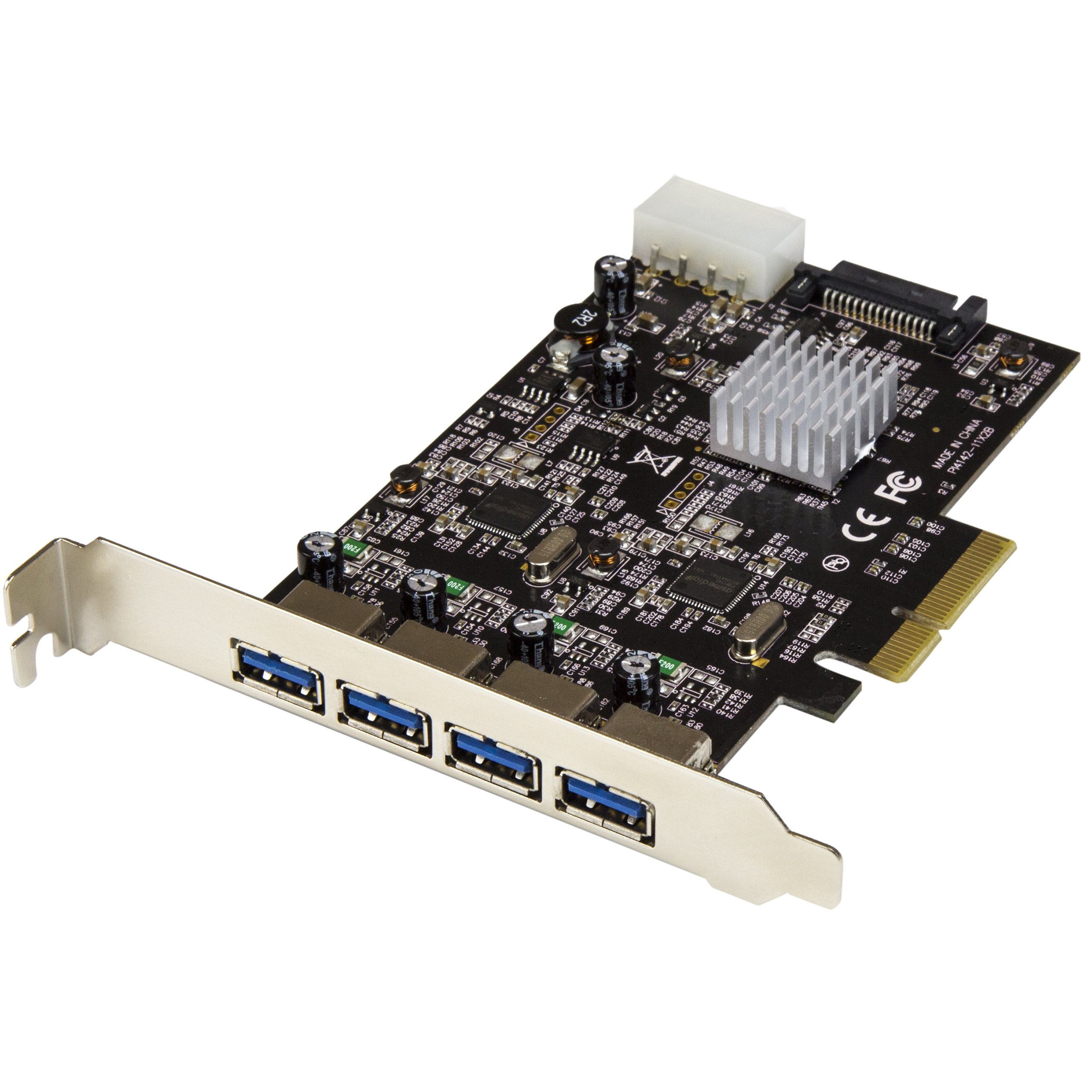 StarTech USB 3.1 PCI-e Card – 4 Port – 4X USB-A with Two 10Gbps Dedicated Channels – Expansion Card – USB 3.1 Card