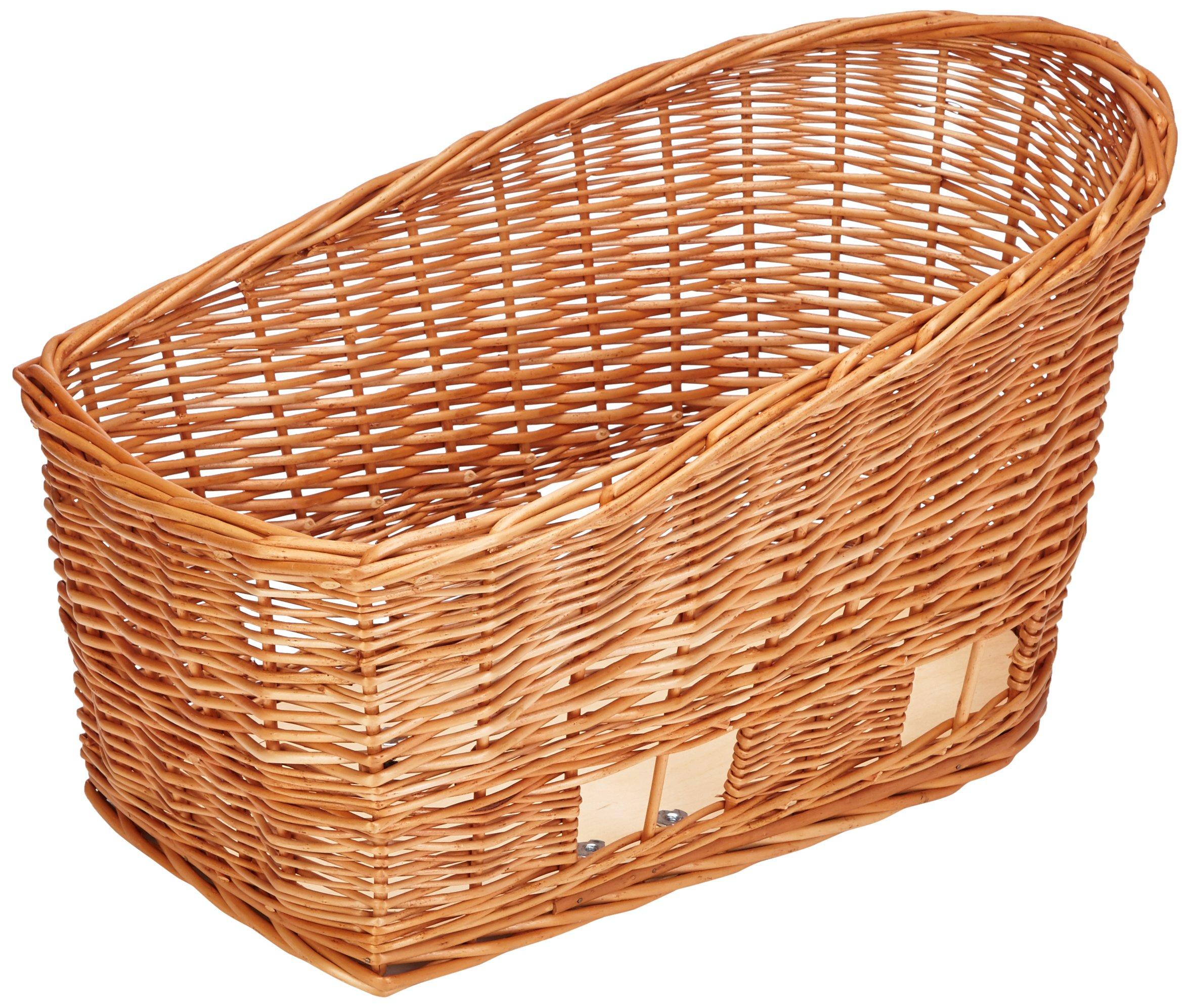 Basil Pasja Rear Bicycle Pet Basket - Natural Wicker - Medium - 45cm