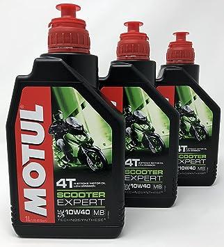 Aceite Moto 4 Tiempos - Motul Scooter 4T 10W-40 MB, 3 litros (