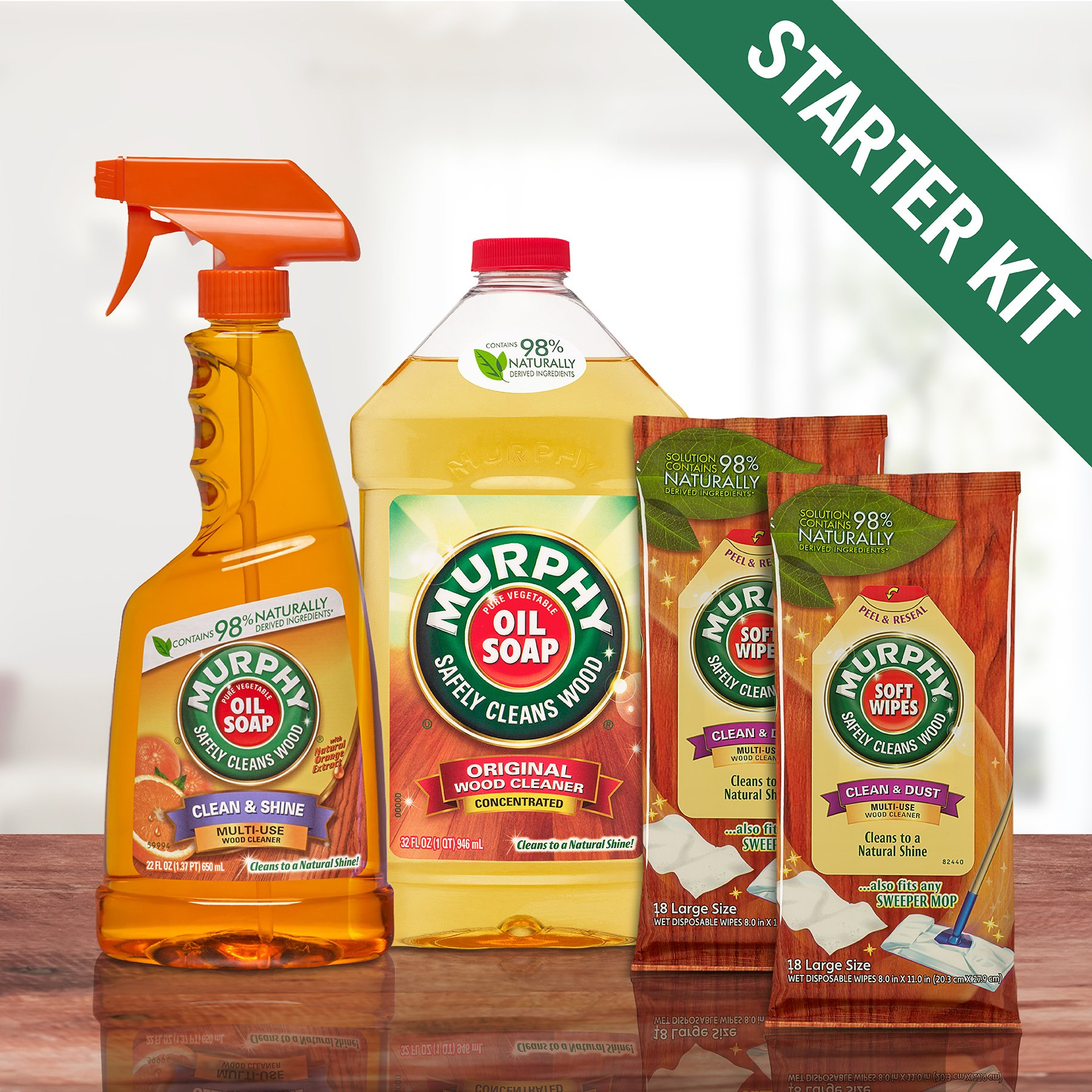 Murphy's Oil Soap Wood Cleaner Kit for Floors and Furniture by Murphy's