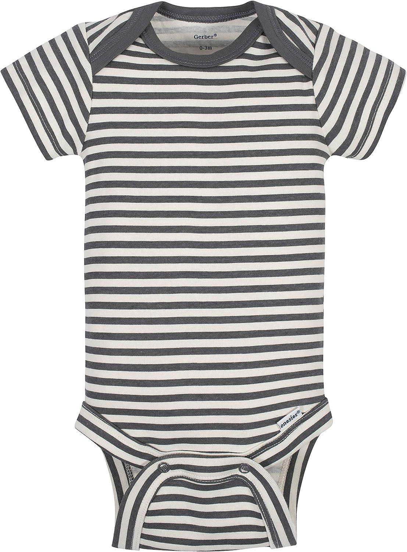Grow by Gerber baby-boys Organic 5-pack Short-sleeve Onesies Bodysuits Footie