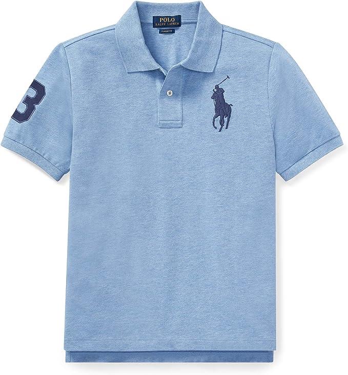 Ralph Lauren - Big Pony Polo para niños de 6-14 años - Azul Jamaica Gris (XL): Amazon.es: Ropa y accesorios