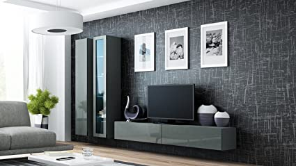 Seattle 3G Wall Unit / Entertainment Center / Hanging Furniture / Tv  Console For Living Room
