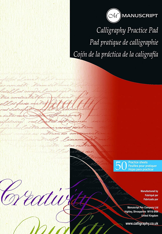 CALLIGRAPHY PRACTICE PADS 50 SHEETS Manuscript MC302