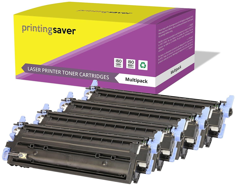 Printing Saver Q6000A Q6001A Q6002A Q6003A 124A NEGRO (1) CIAN (1) MAGENTA (1) AMARILLO (1) Cartuchos de Tóner para HP Laserjet 1600, 1600n, 2600, 2600n, ...