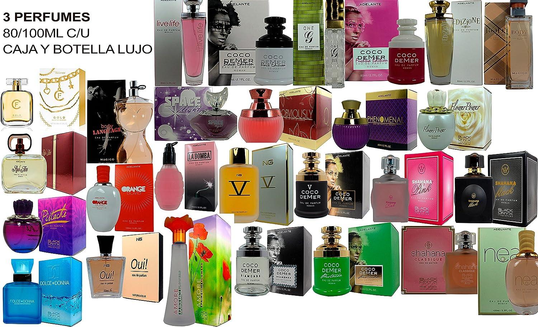 Set de 3 (tres) Perfumes Franceses de Alta Calidad Para Mujer 80 a ...