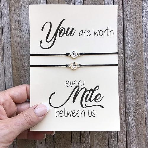 Amazoncom Long Distance Relationship Gifts Matching Bracelet Set