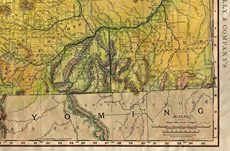 Amazon 079 montana railroads 1893 vintage historic antique 079 montana railroads 1893 vintage historic antique map poster print gumiabroncs Choice Image