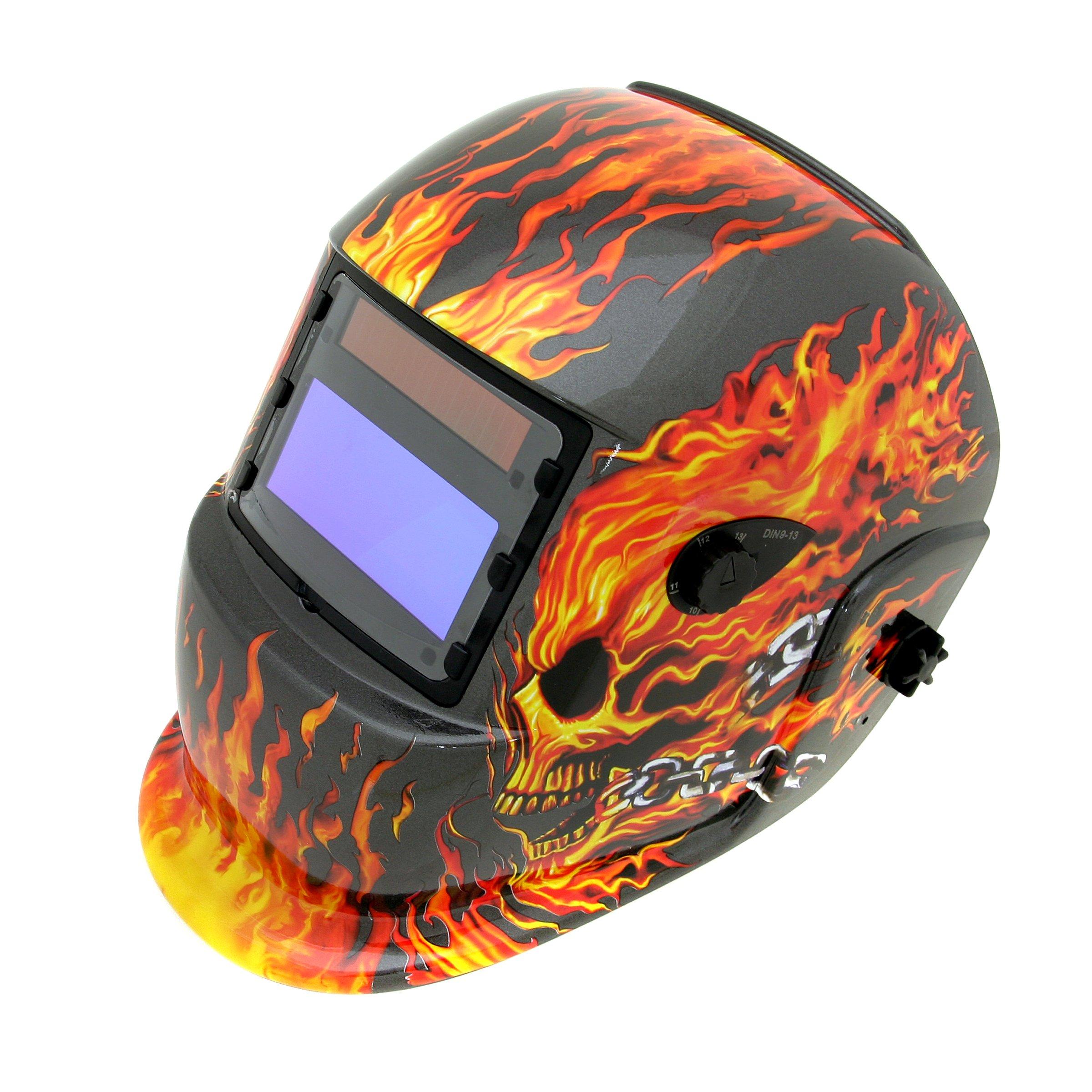 Thermadyne Tweco 41001004 Tweco WeldSkill Auto-Darkening Helmet Flames