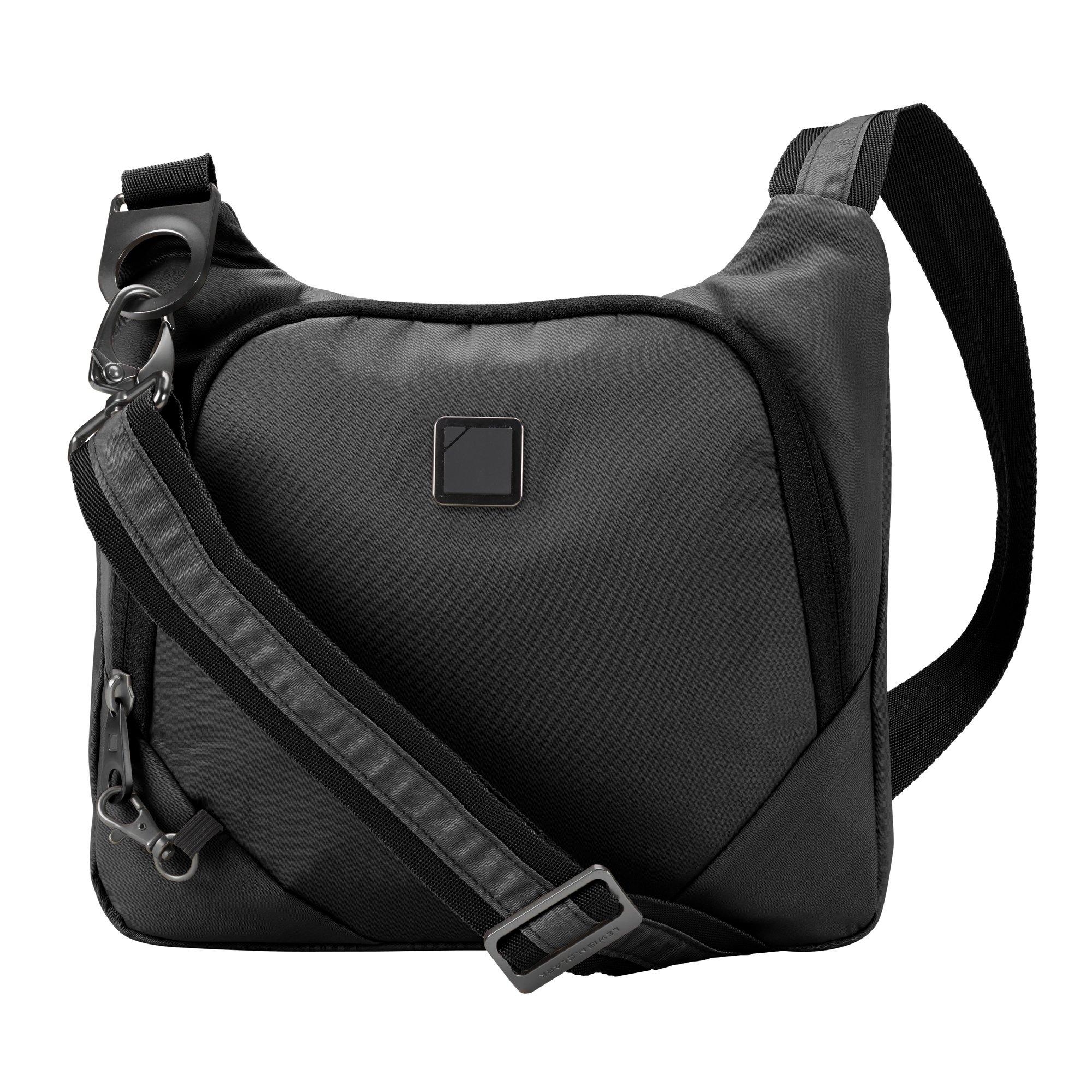 Lewis N. Clark Secura Anti-theft Cross Body Bag, Onyx