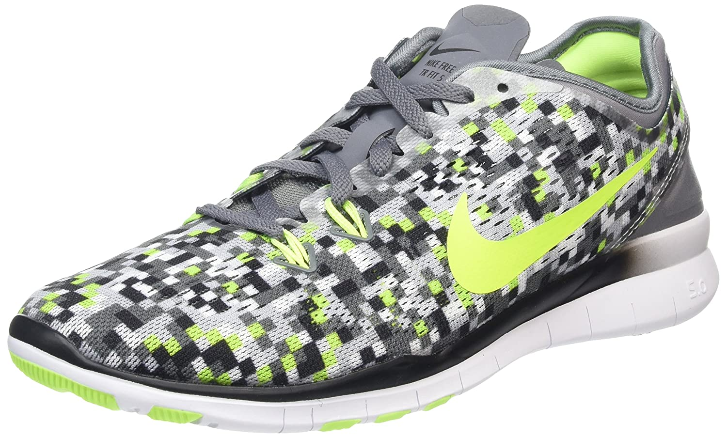 great deals 2017 release date clearance prices Buy Nike Women's Free 5.0 Tr Fit 5 PRT Cool Grey/Black/Volt ...