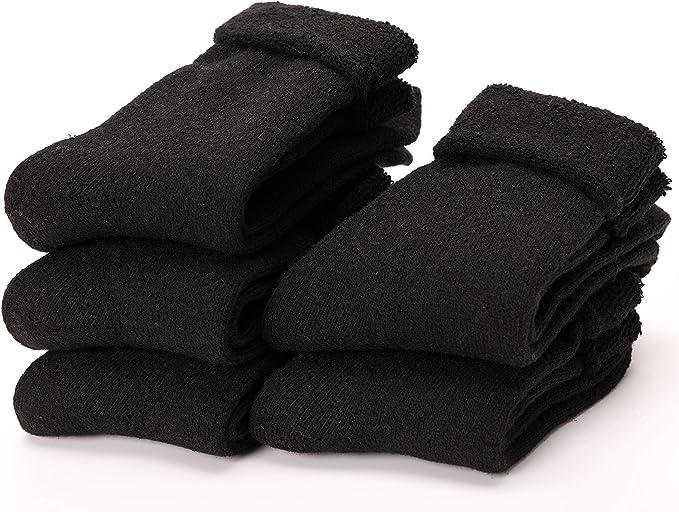 5 Pairs Women Cotton Knit Warm Thick Winter Bold Line Fashion Girls Boot Socks