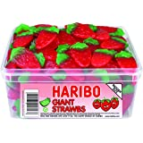 Haribo Giant Strawbs (Tub of 120)