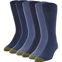 Gold Toe mens 3583S Stanton Crew Socks, 6 Pairs Casual Sock - multi