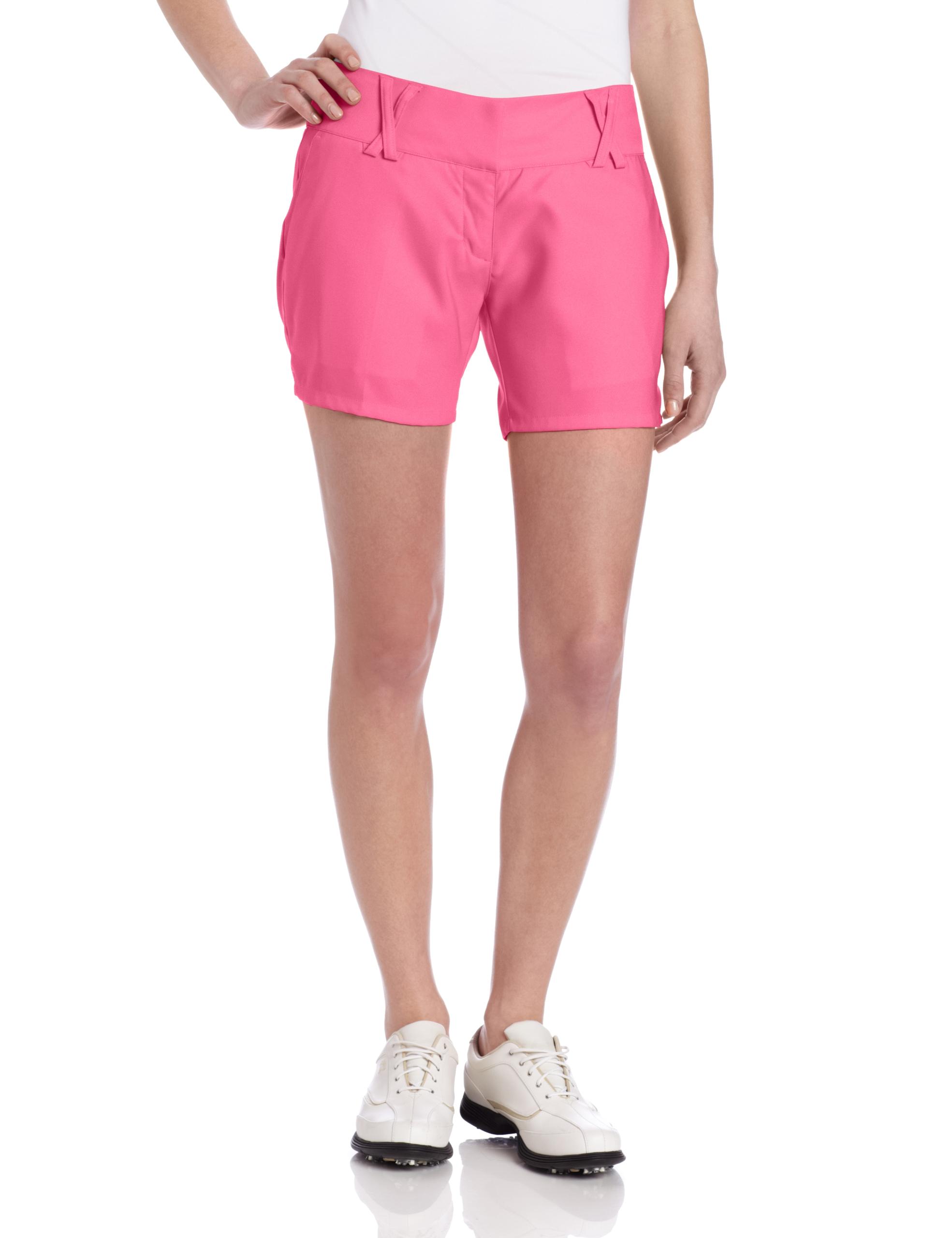 adidas Climalite Stretch Novelty Short, 10-Inch, Bubblegum