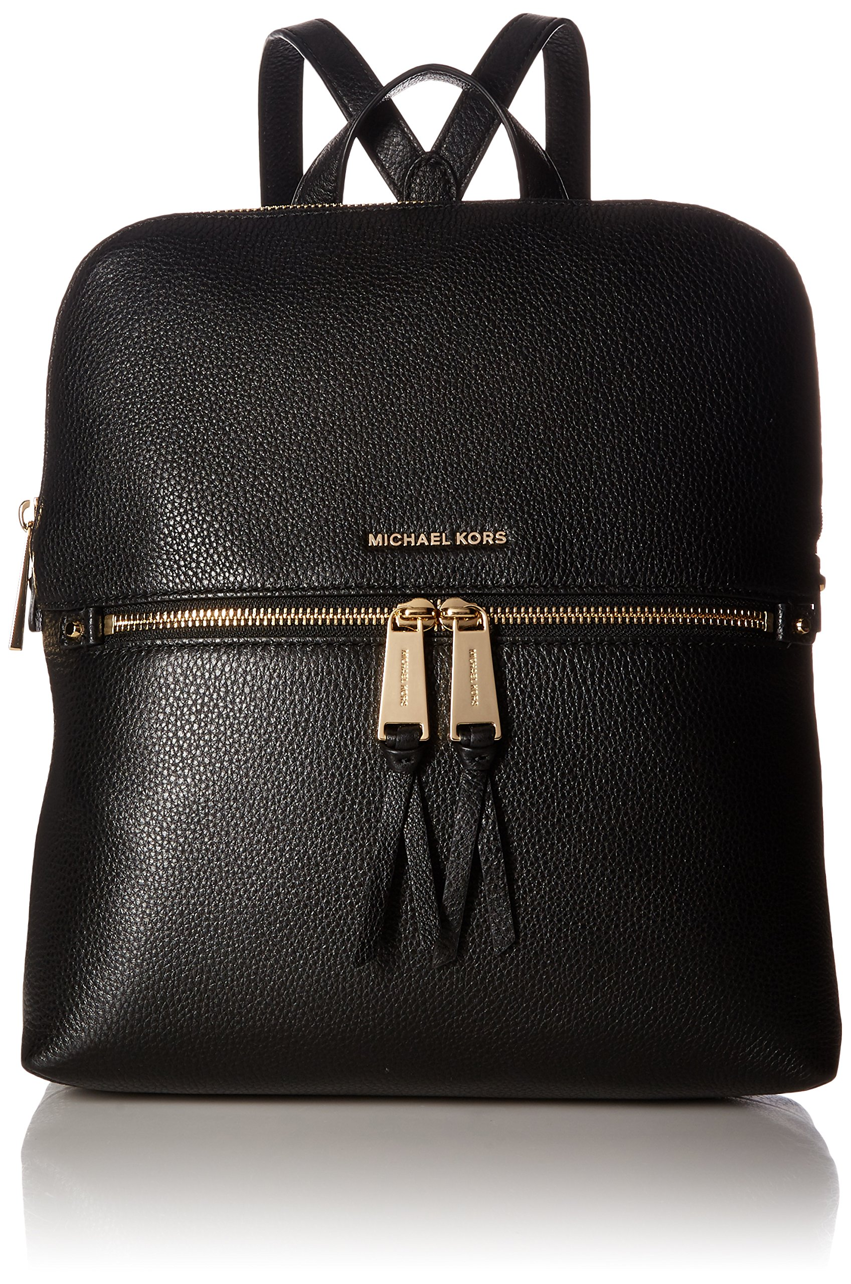 Michael Kors Rhea Zip Medium Slim Backpack in Black
