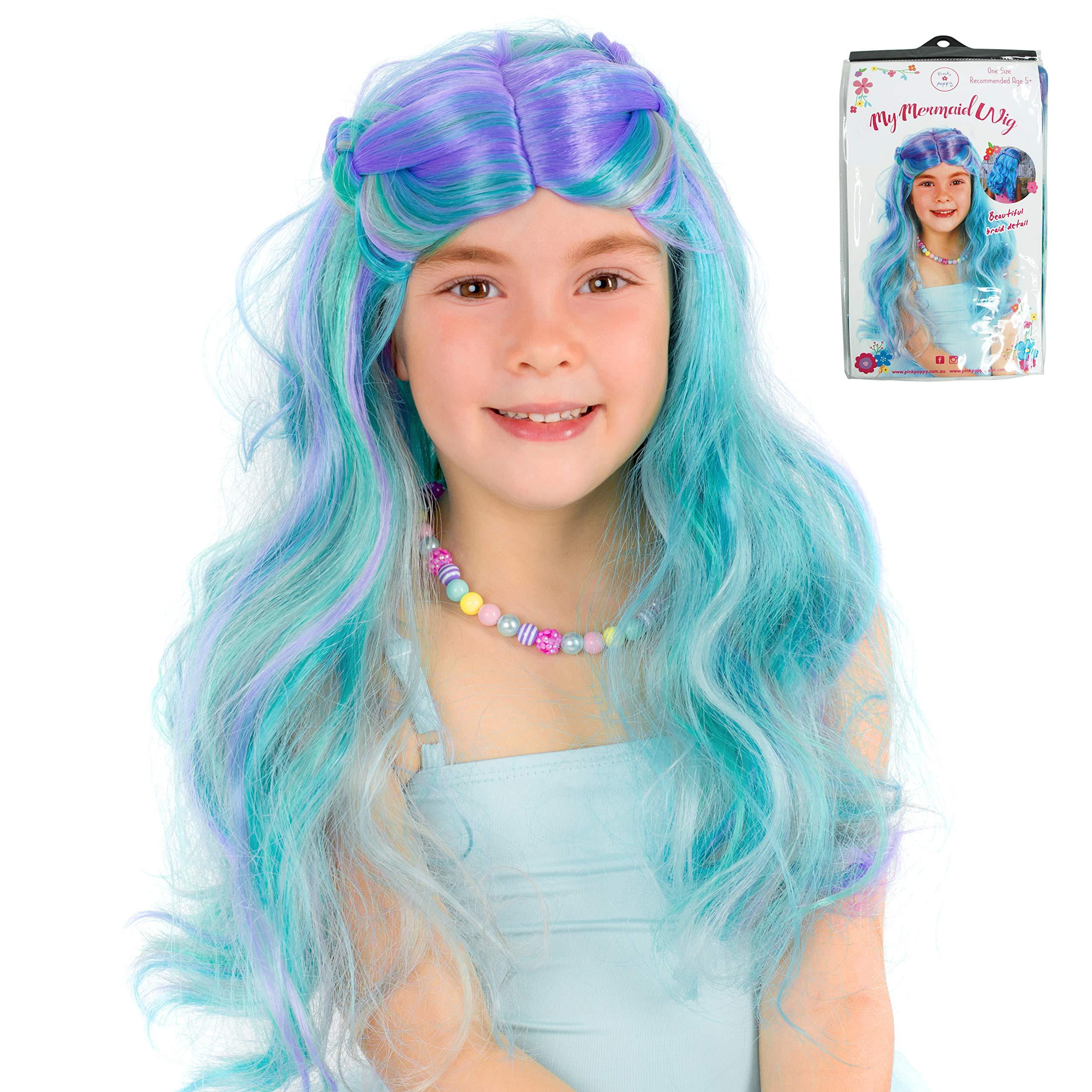 Pink Poppy My Mermaid Wig Blue and Purple