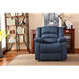 NHI Express Addison Large Contemporary Mocha Microfiber Recliner, Blue