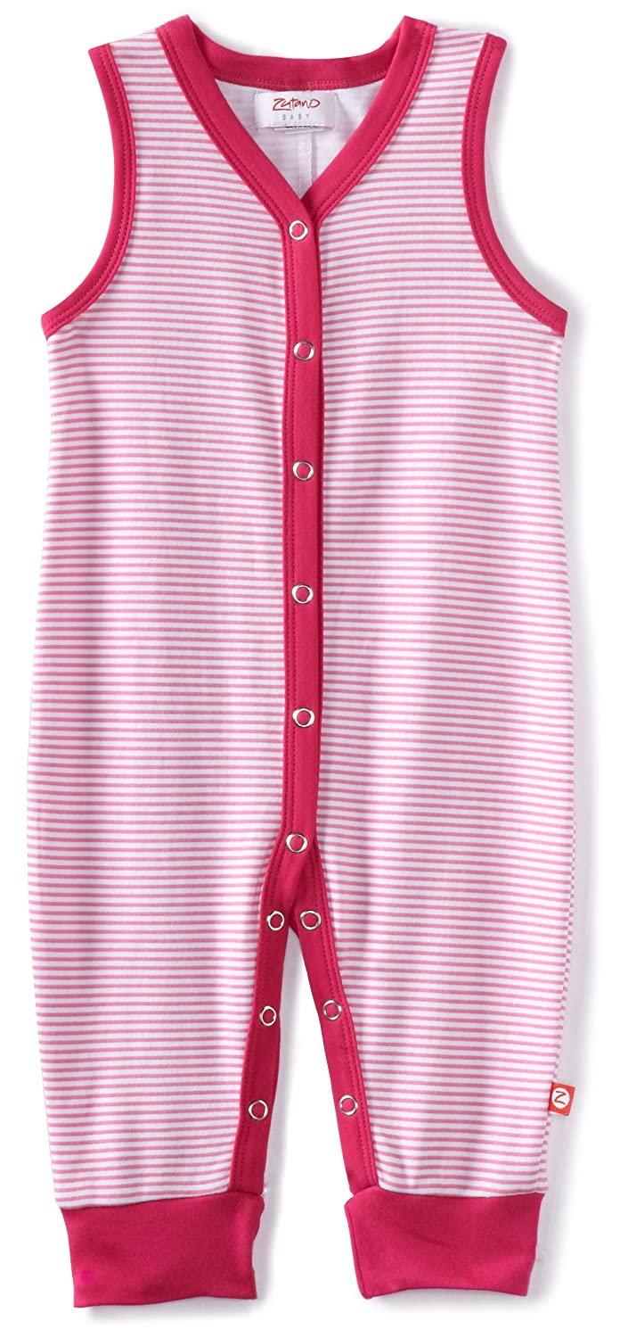 Zutano Baby Girls Candy Stripe Sleeveless Romper
