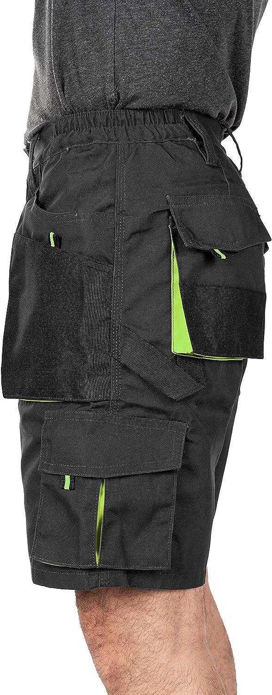 3XL Multibolsillos Bermudas de Trabajo Resistente Ropa de Trabajo Tama/ño S Corto de Trabajo Verano Pantalones Cortos de Trabajo para Hombre Cargo Shorts