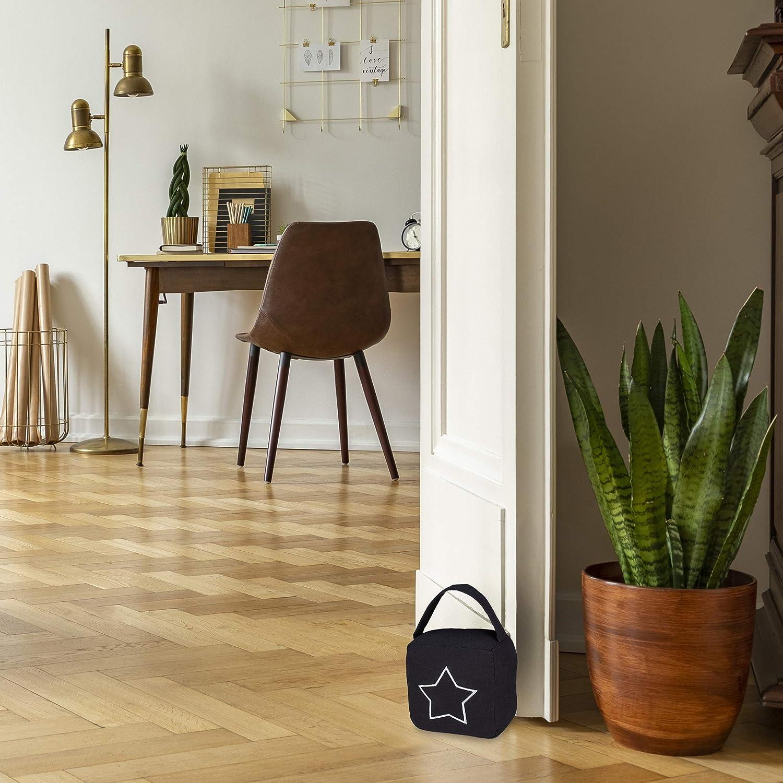 moderner T/ürsack in Vintage Design grau HBT: 18,5 x 14 x 10 cm Boden Relaxdays 4 x T/ürstopper Sack Stofft/ürstopper mit Griff
