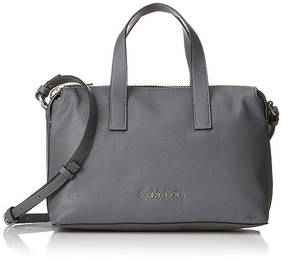 Calvin Klein Jeans - Drive Duffle, Carteras de mano con asa Mujer, Gris (Steel Greystone), 14x21x32 cm (B x H T): Amazon.es: Zapatos y complementos