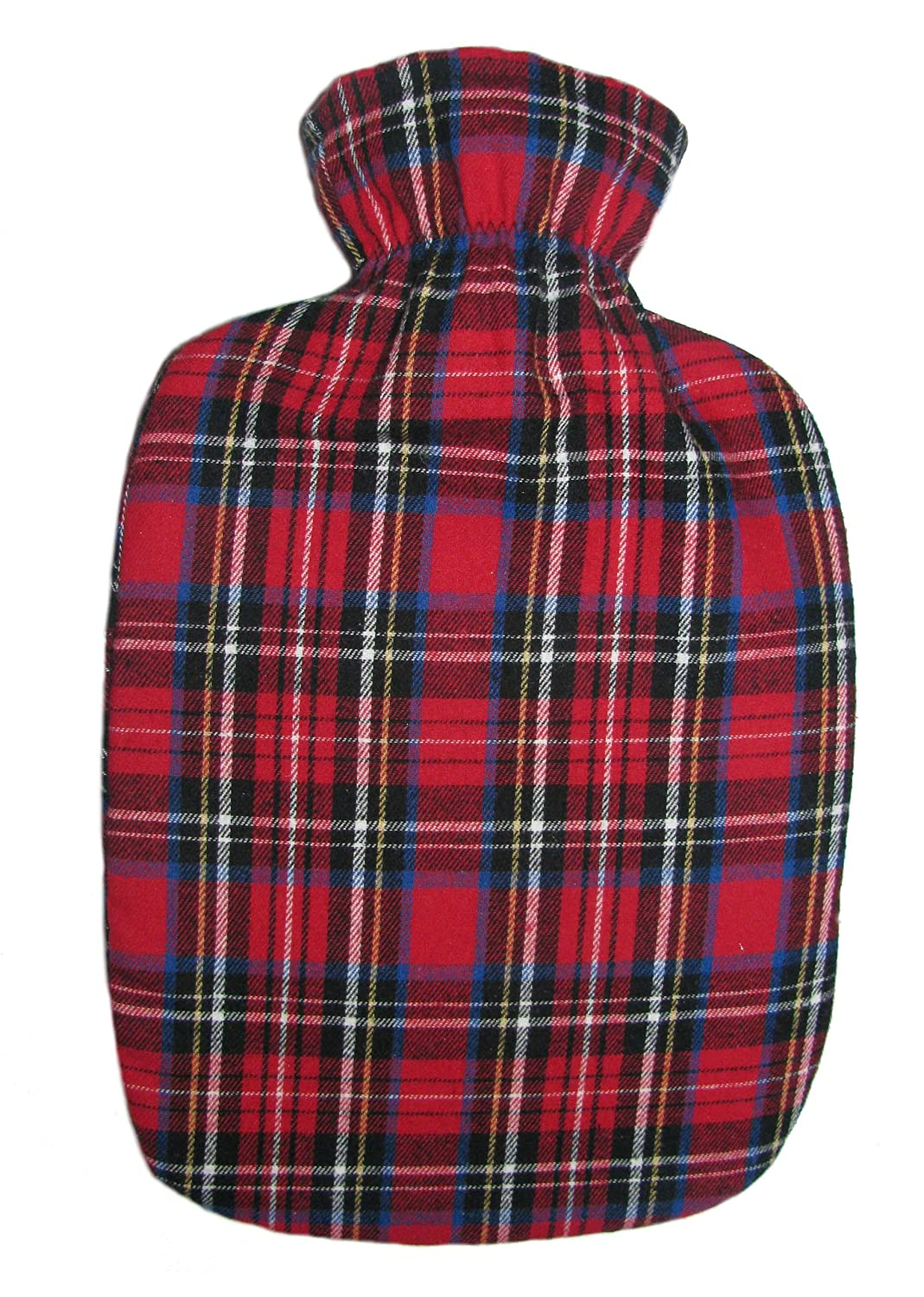Amazon.com: Warm Tradition Red Tartan Cotton Flannel Hot Water ...