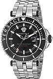 Versace Men's 'V-Race' Swiss Quartz Stainless Steel Casual Watch, Color:Silver-Toned (Model: VAK030016)